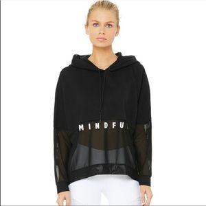 ALO Yoga Mindful Movement Hooded Mesh Sweatshirt